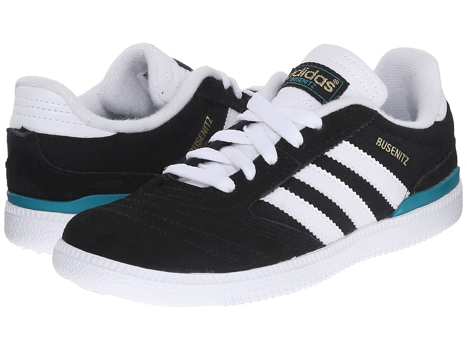 adidas Skateboarding - Busenitz Pro J (Little Kid/Big Kid) (Black/White/EQT Green) Skate Shoes