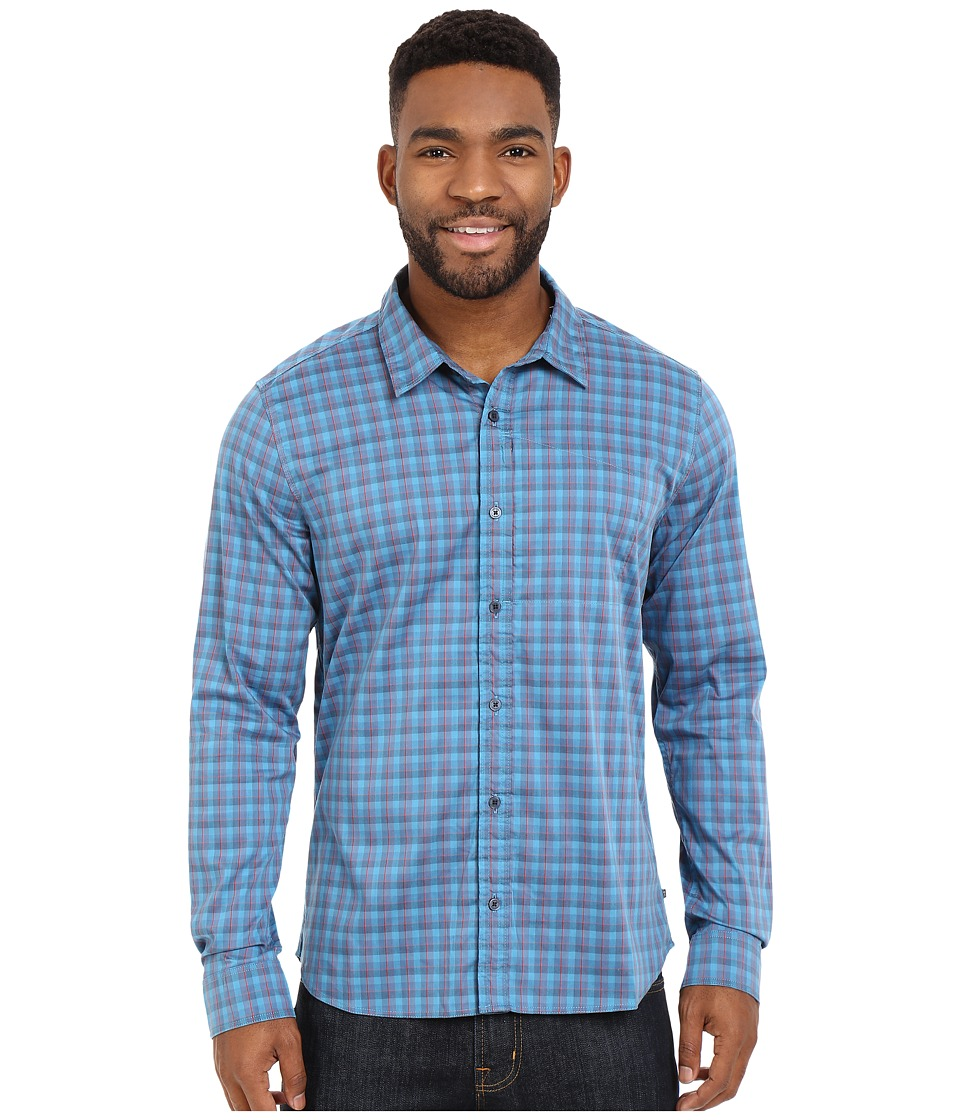 Toad&Co - Panorama Long Sleeve Shirt (Moody Blue) Men's Long Sleeve Button Up