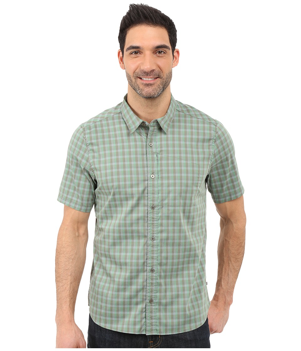 Toad&Co - Panorama Short Sleeve Shirt (Canoe Green) Men's Short Sleeve Button Up