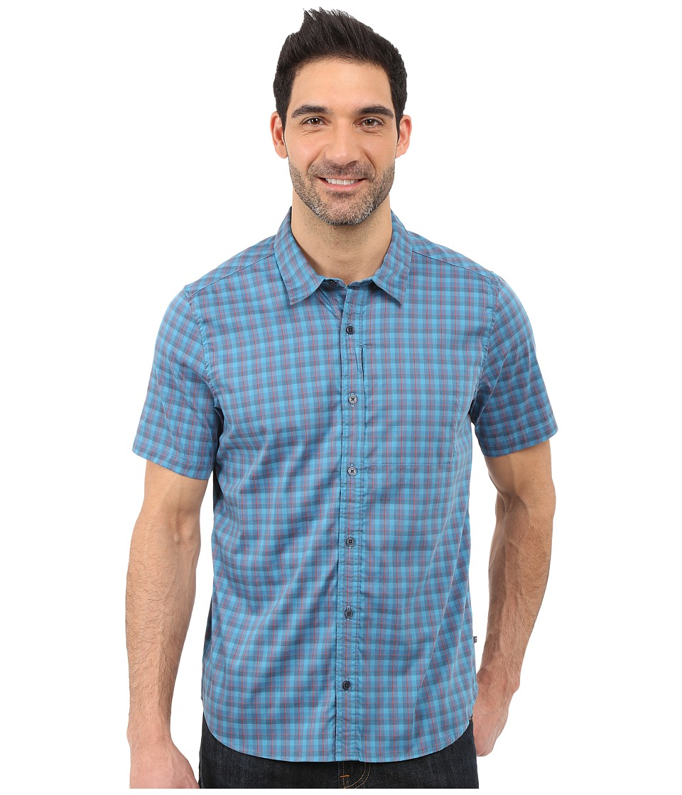 Toad&Co - Panorama Short Sleeve Shirt (Moody Blue) Men's Short Sleeve Button Up