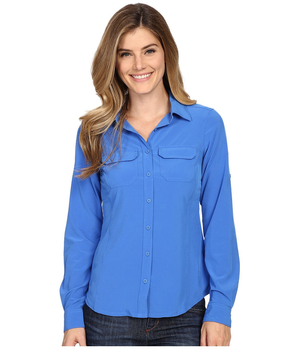 Columbia - Saturday Trail III L/S Shirt (Stormy Blue) Women's Long Sleeve Button Up