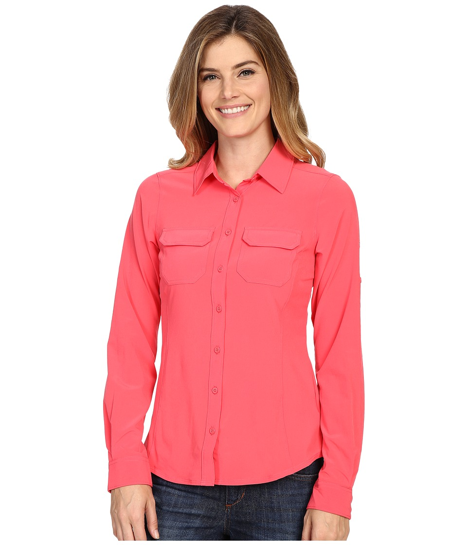 Columbia - Saturday Trail III L/S Shirt (Bright Geranium) Women's Long Sleeve Button Up