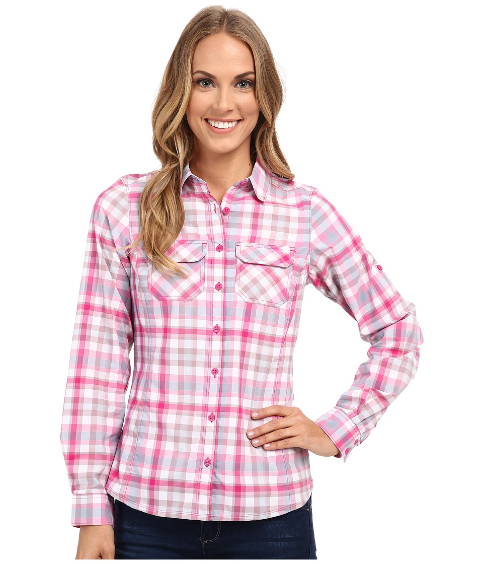 Columbia - Saturday Trail Plaid Long Sleeve Shirt (Haute Pink Plaid) Women's Long Sleeve Button Up
