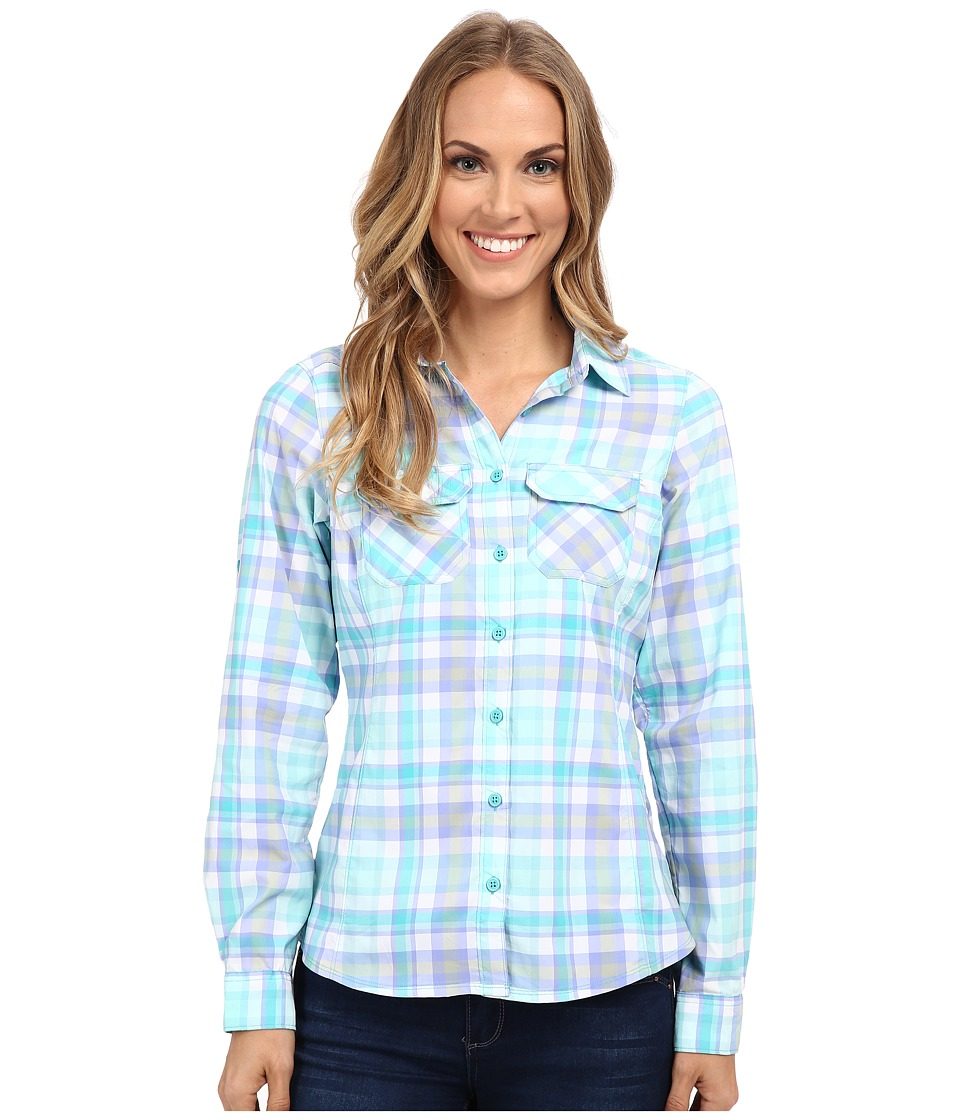 Columbia - Saturday Trail Plaid Long Sleeve Shirt (Miami Plaid) Women's Long Sleeve Button Up