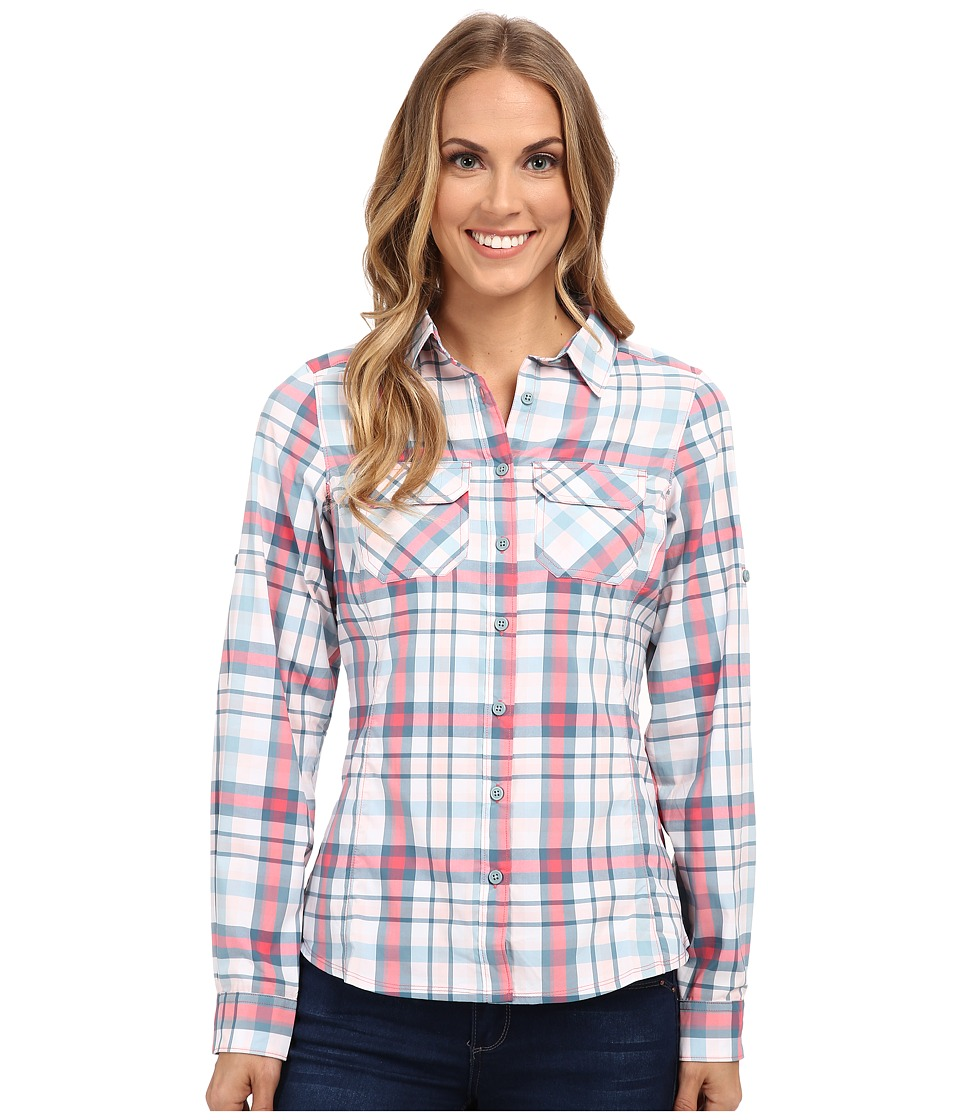 Columbia - Saturday Trail Plaid Long Sleeve Shirt (Bright Geranium Plaid) Women's Long Sleeve Button Up