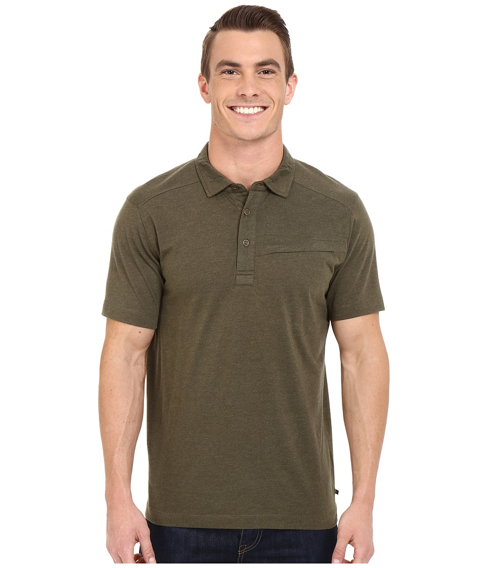 Toad&Co - Motile Short Sleeve Polo Shirt (Dark Moss) Men's Short Sleeve Knit