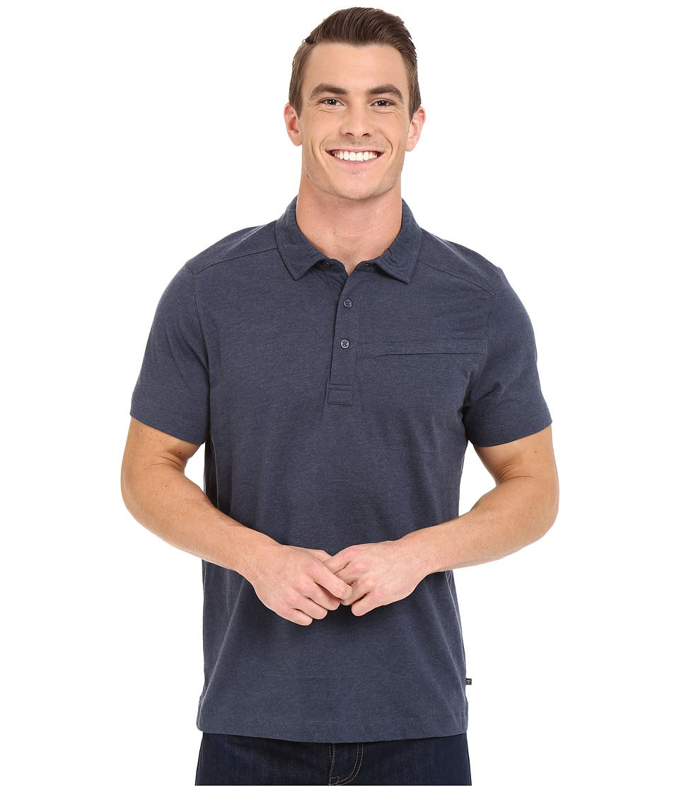 Toad&Co - Motile Short Sleeve Polo Shirt (Nightsky) Men's Short Sleeve Knit