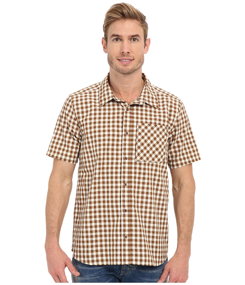 Toad&Co - Pilotlight Short Sleeve Shirt (Acorn) Men's Short Sleeve Button Up