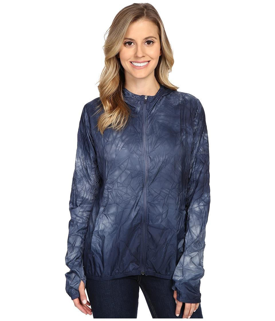 adidas - Kanoi Runpack Dye Jacket (Mineral Blue) Women's Coat