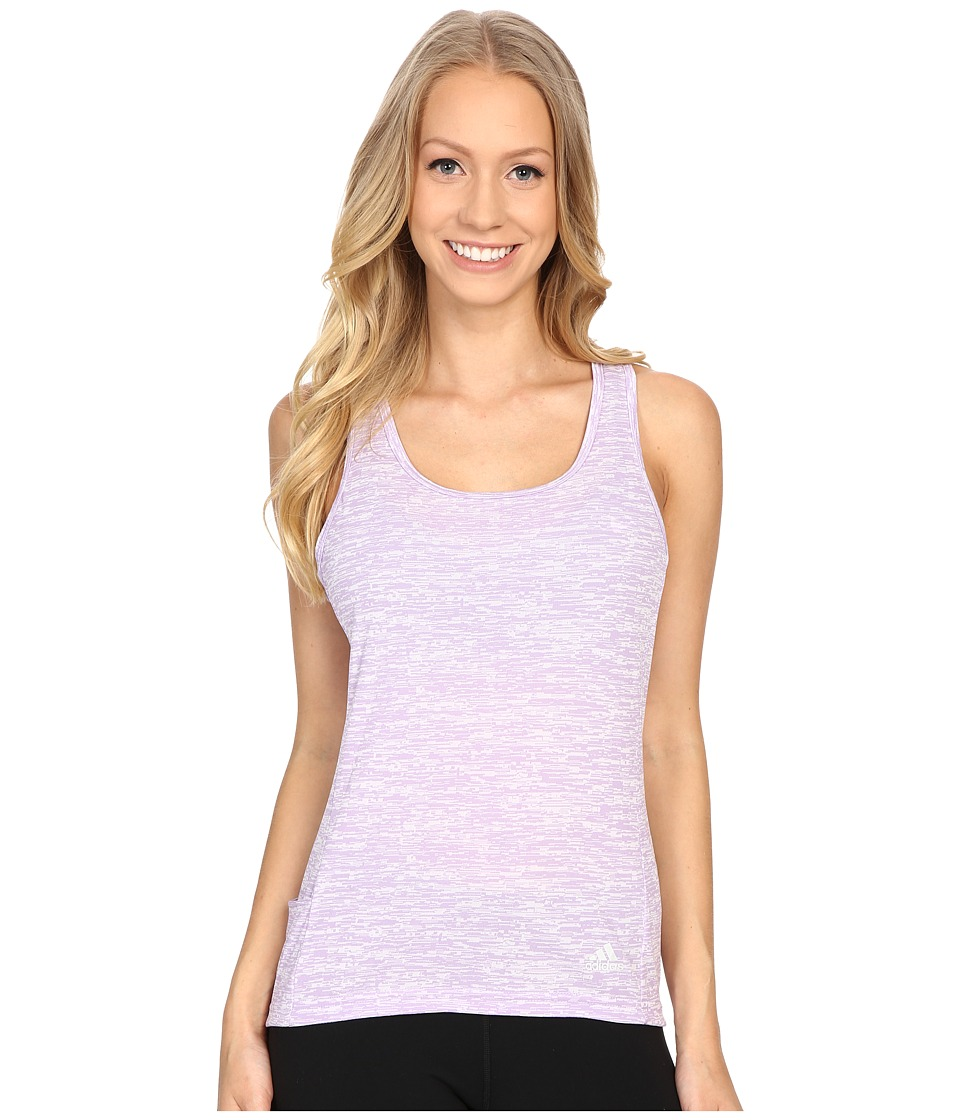 adidas - Supernova Slim Tank Top (Purple Glow) Women's Sleeveless