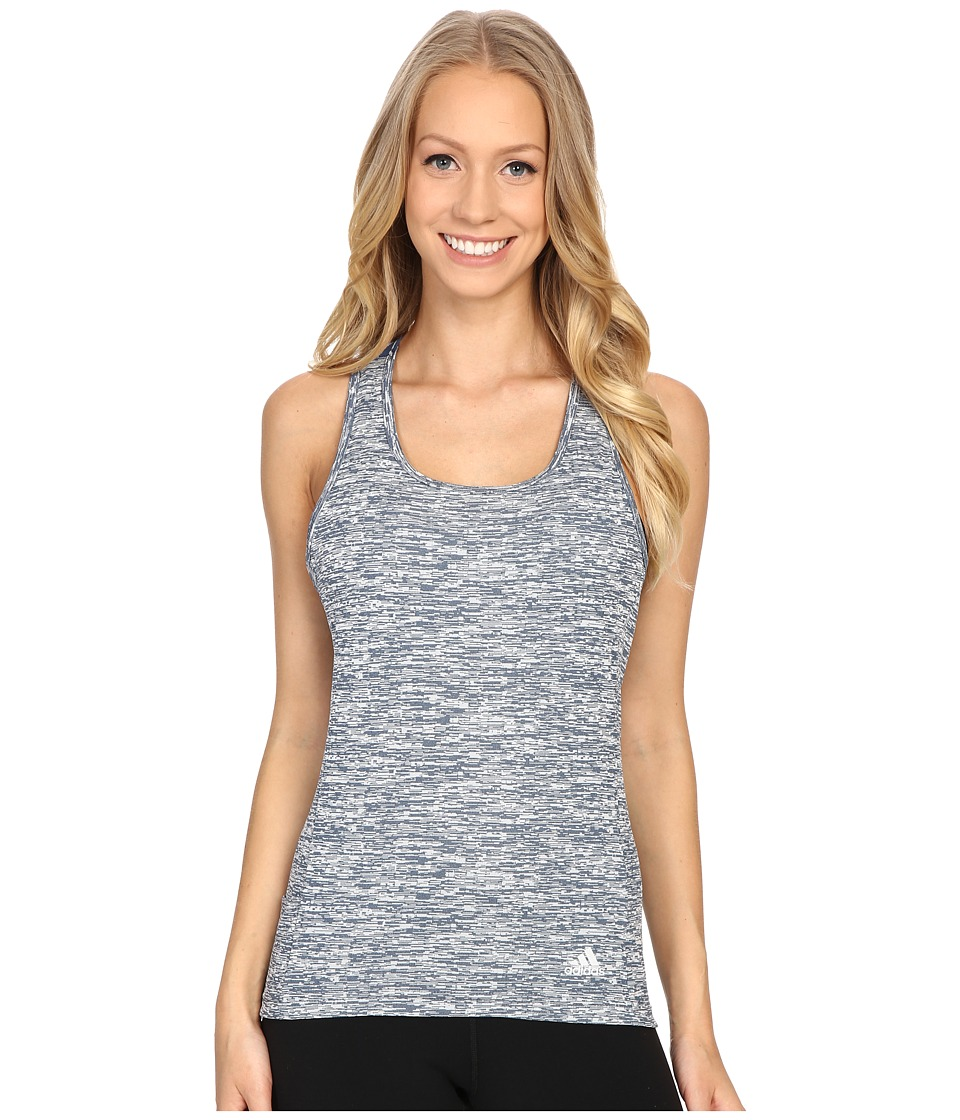 adidas - Supernova Slim Tank Top (Mineral Blue) Women's Sleeveless