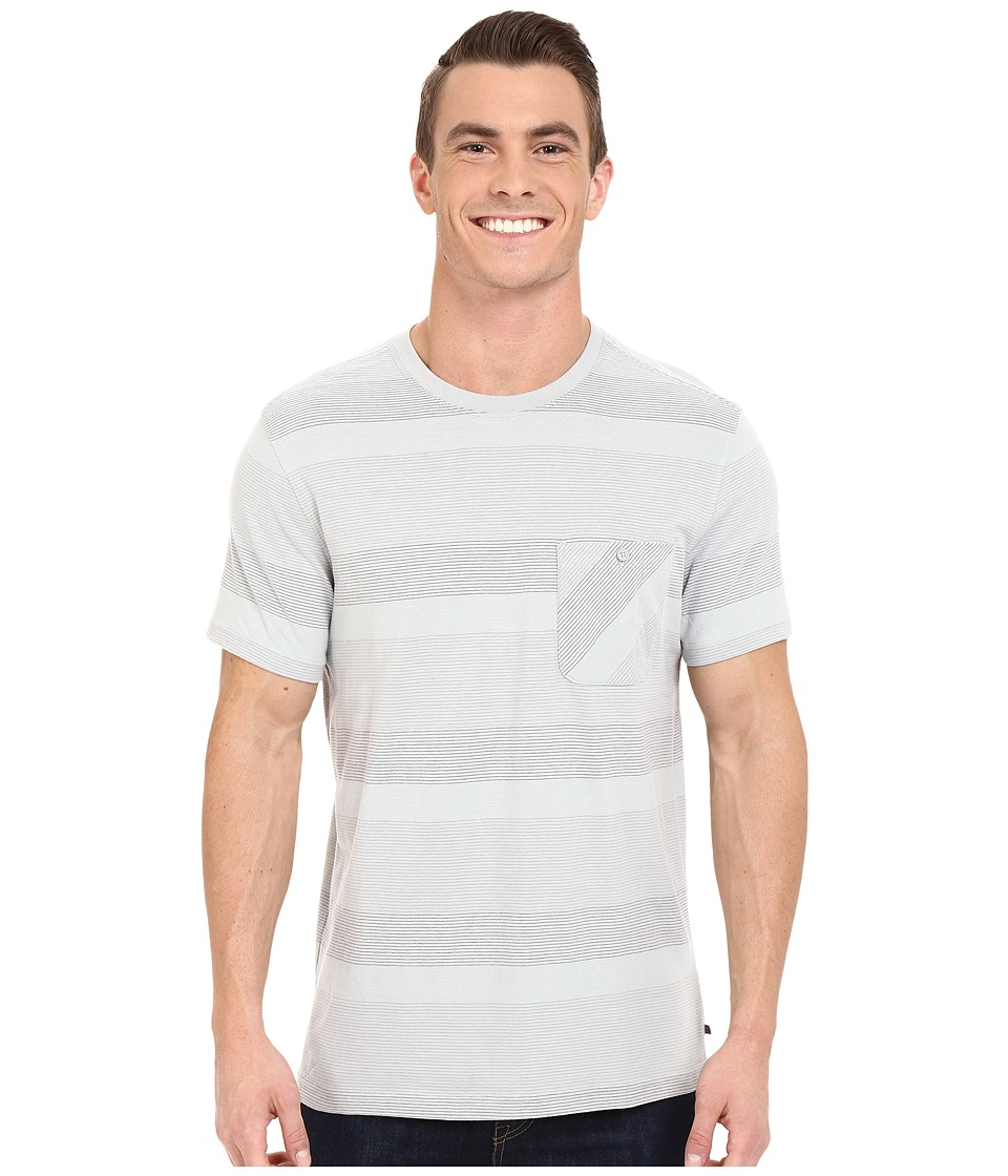 Toad&Co - Smooth Stripe Short Sleeve Tee (Chrome) Men's Short Sleeve Pullover