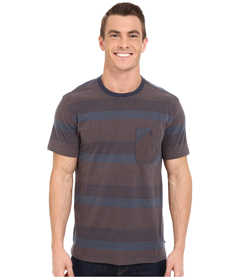Toad&Co - Smooth Stripe Short Sleeve Tee (Nightsky) Men's Short Sleeve Pullover