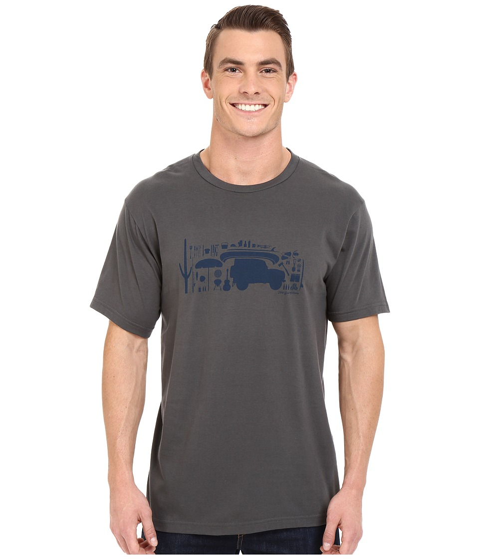 Toad&Co - Sur Short Sleeve Tee (Dark Graphite) Men's T Shirt