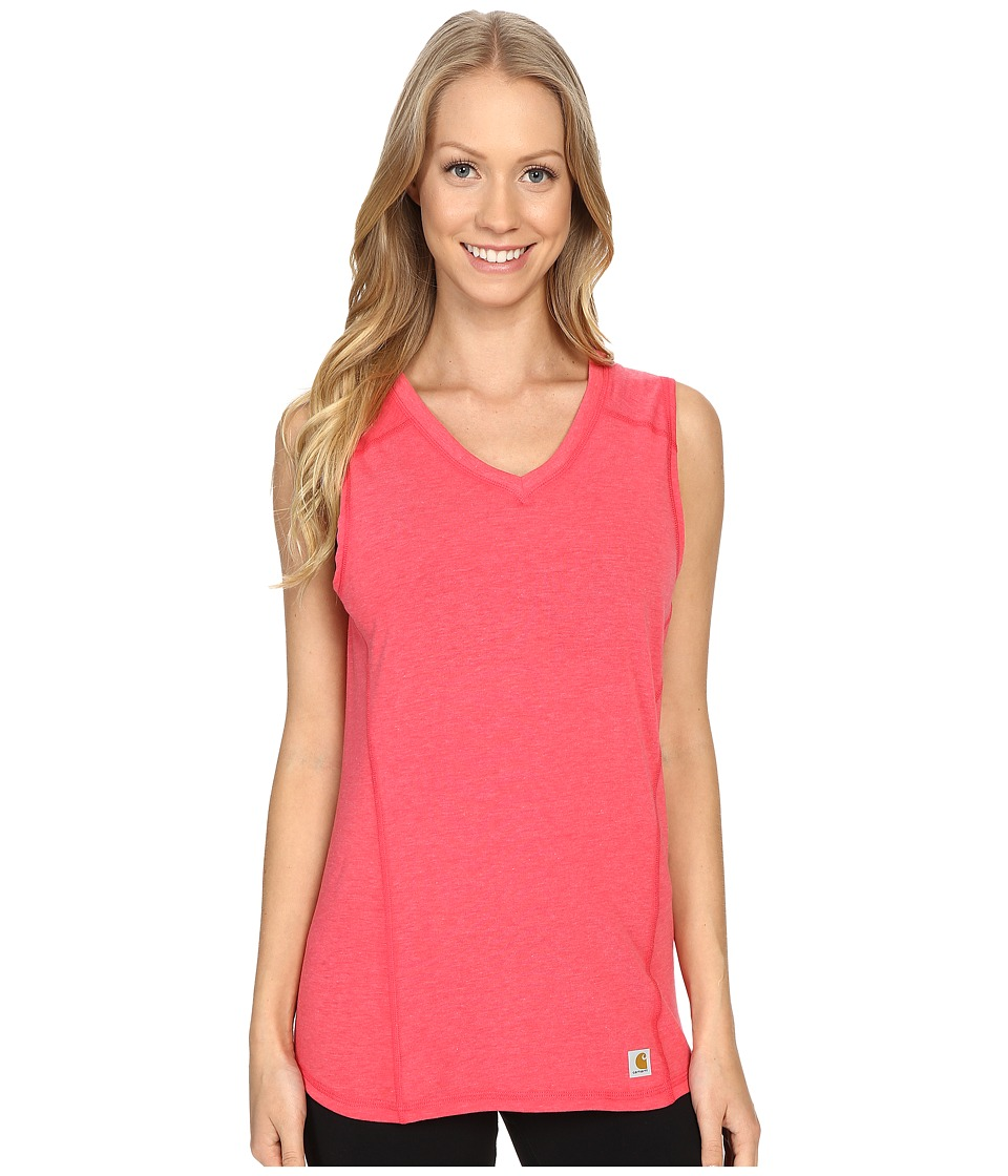 Carhartt - Force Performance Tank (Geranium Coral Heather) Women's Sleeveless