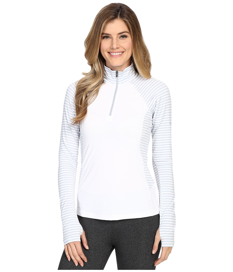 Columbia - Saturday Trail Stripe Half Zip Shirt (White/Cirrus Grey Stripe) Women's Long Sleeve Pullover