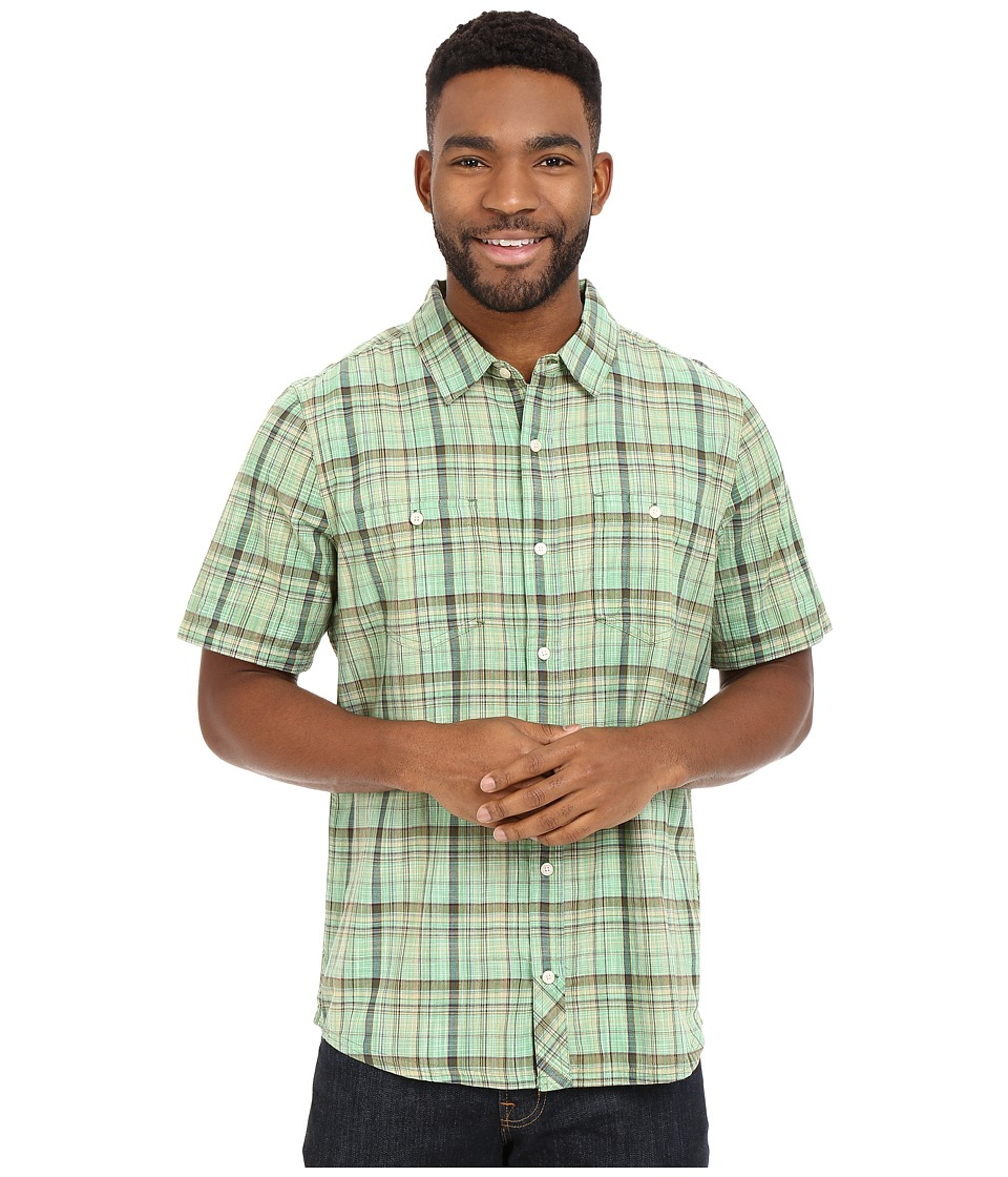 Toad&Co - Smythy S/S Shirt (Canoe Green) Men's Short Sleeve Button Up