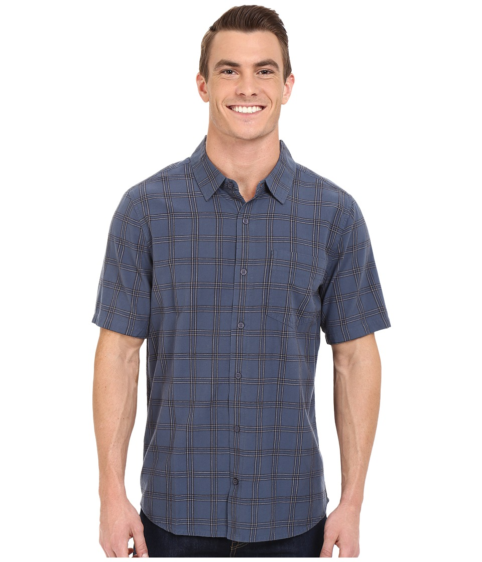 Toad&Co - Aircooled Short Sleeve Shirt (Moody Blue) Men's Short Sleeve Button Up