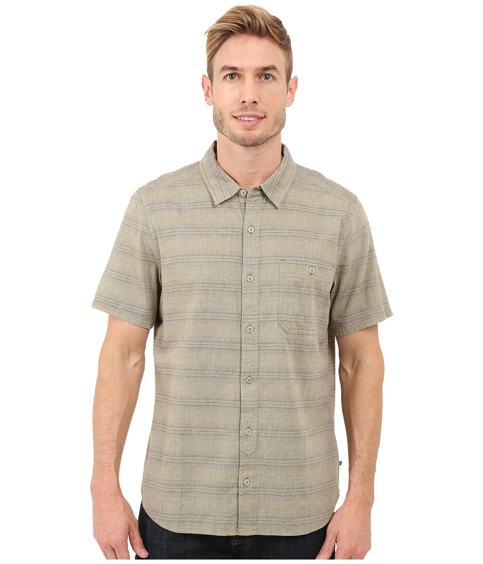 Toad&Co - Hardscape S/S Shirt (Dark Moss) Men's Short Sleeve Button Up