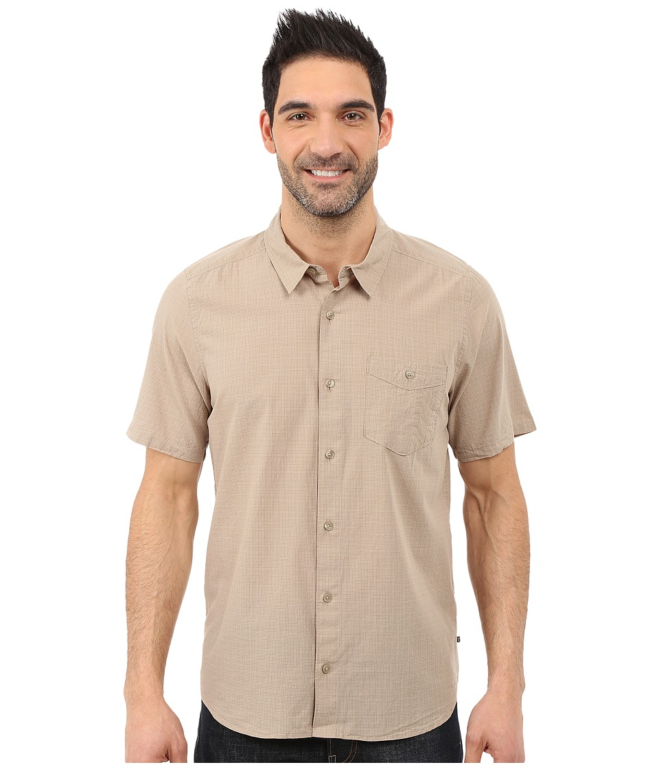 Toad&Co - Airbrush S/S Shirt (Buckskin) Men's Short Sleeve Button Up