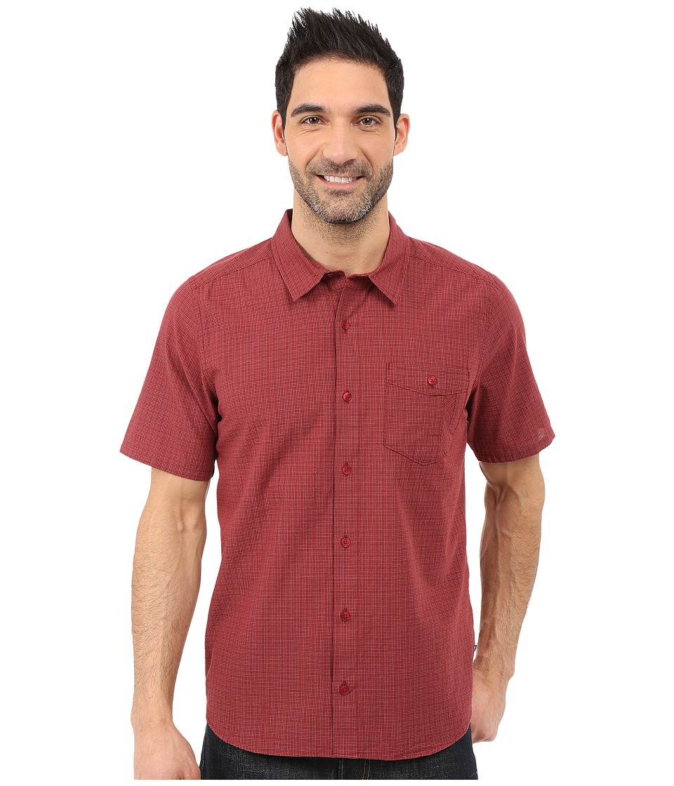 Toad&Co - Airbrush S/S Shirt (House Red) Men's Short Sleeve Button Up
