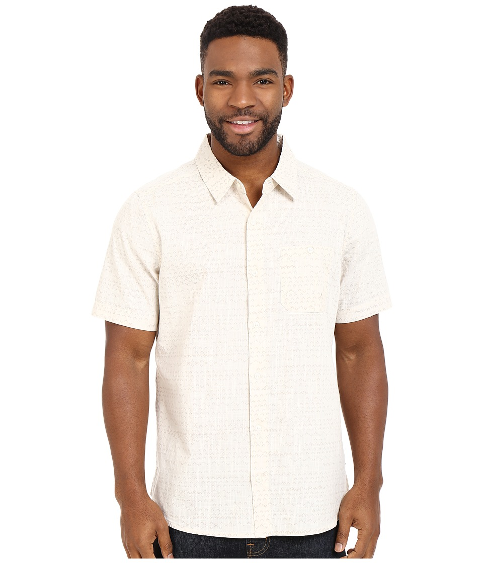 Toad&Co - Fletch Print Short Sleeve Shirt (Egret Print) Men's Short Sleeve Button Up