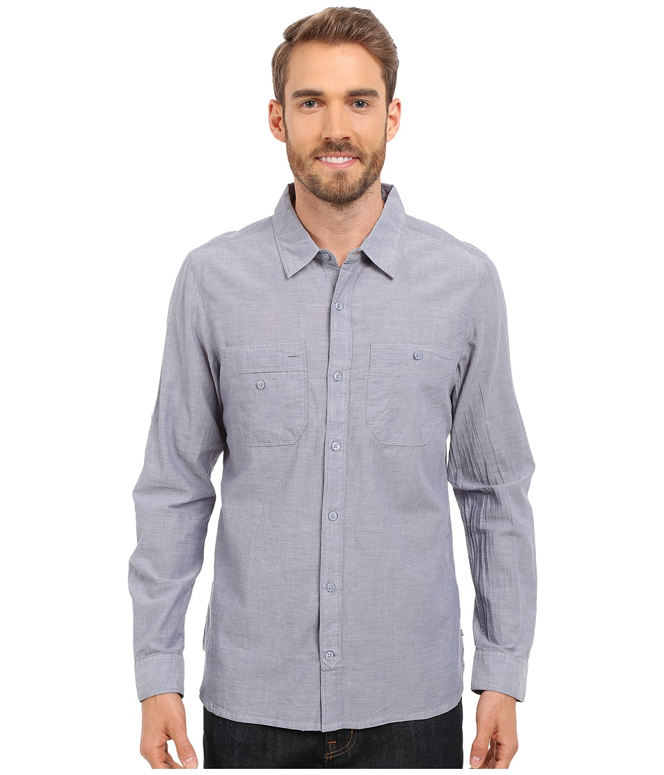 Toad&Co - Honcho L/S Shirt (Moody Blue) Men's Long Sleeve Button Up