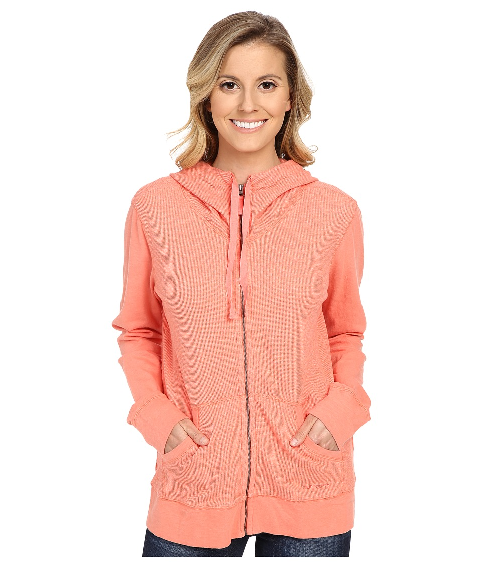 Carhartt - Hayward Zip Front Hoodie (Burnt Coral Heather) Women's Sweatshirt