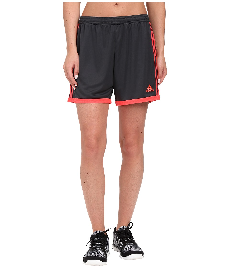 adidas - Tastigo 15 Knit Short (Dark Grey/Shock Red) Women's Shorts