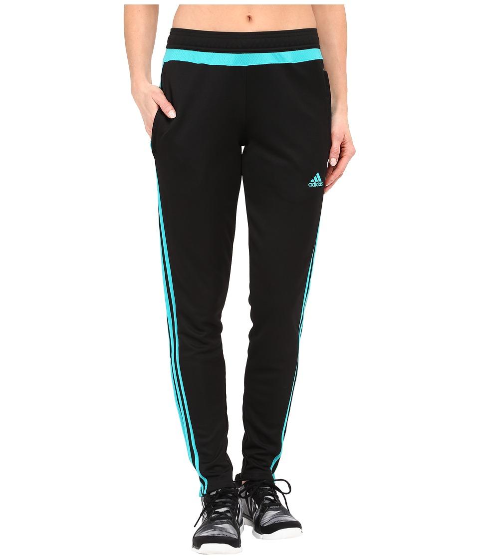 adidas - Tiro 15 Training Pant (Black/Shock Green) Women's Casual Pants