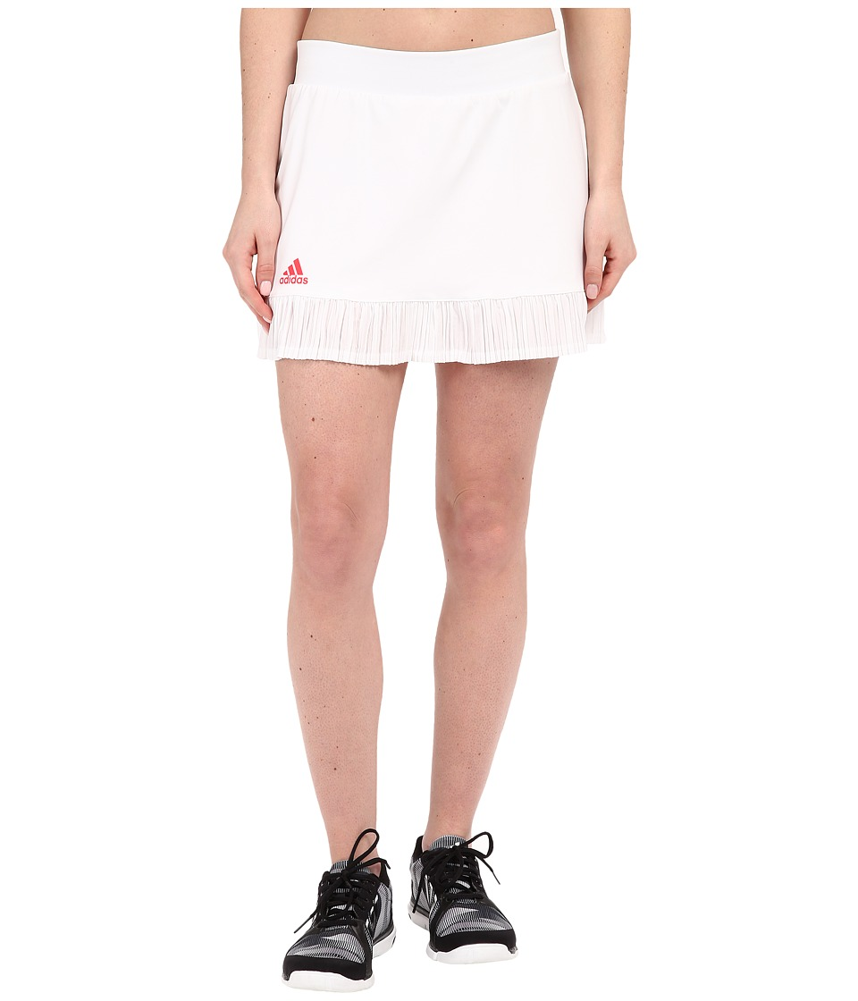 adidas - adizero Skorts (White/Shock Red) Women's Skort