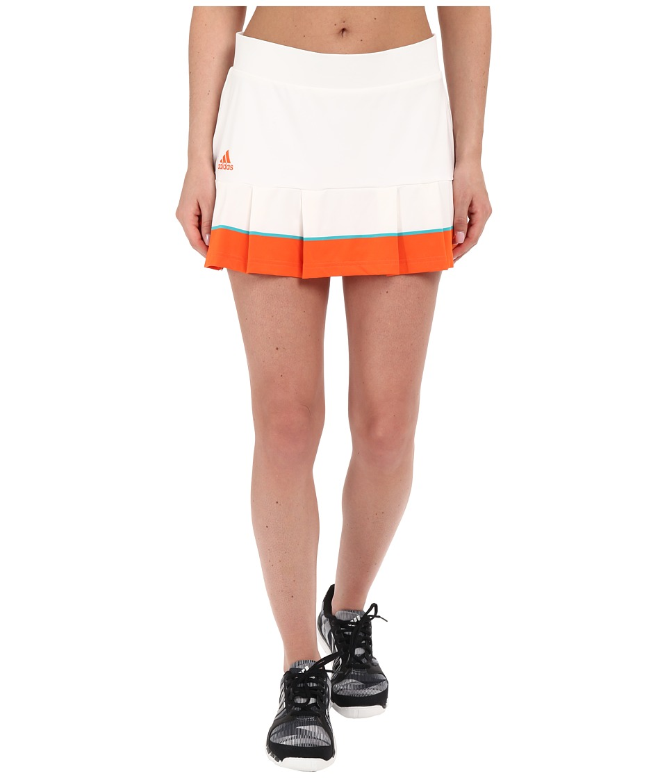 adidas - All Premium Skorts (White/Super Orange/EQT Green) Women