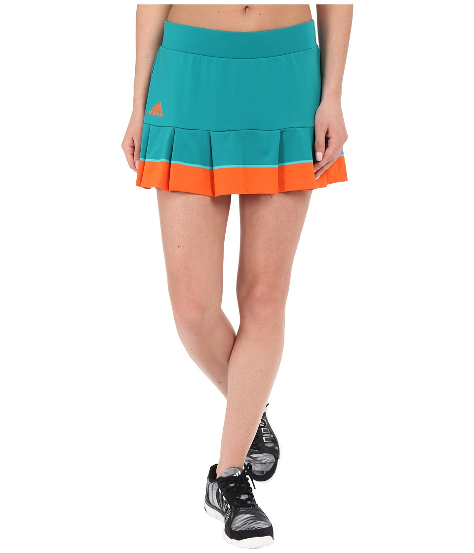 adidas - All Premium Skorts (EQT Green/Shock Green/Super Orange) Women's Skort