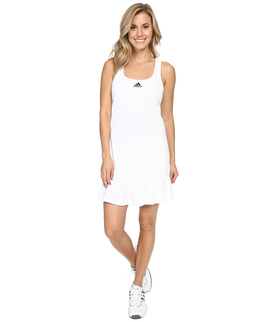 adidas - ClimaChill Dress (White/Black) Women's Dress