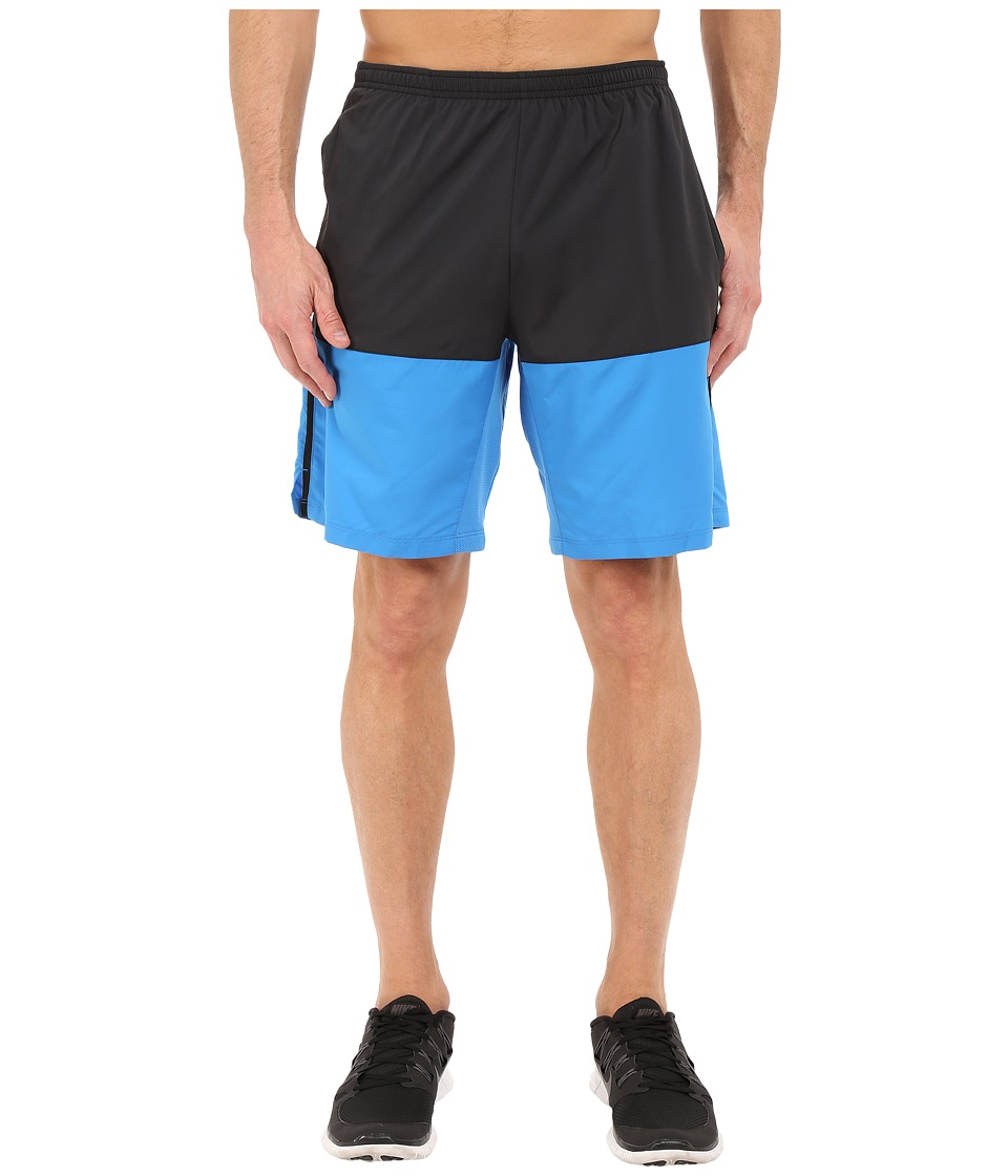 Nike - 9 Distance Running Short (Black/Light Photo Blue/Reflective Silver) Men's Shorts