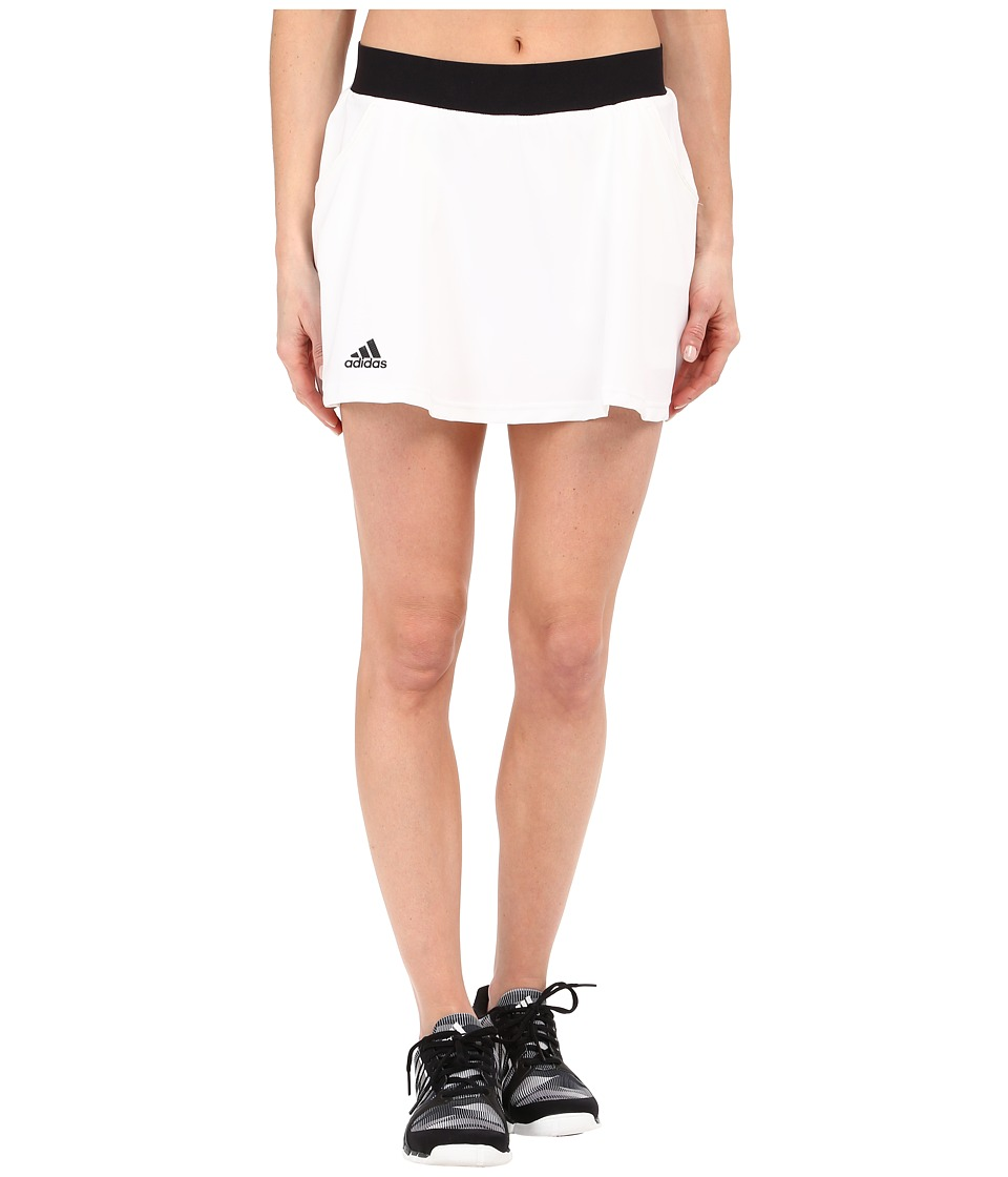 adidas - Club Skorts (White/Black) Women's Skort