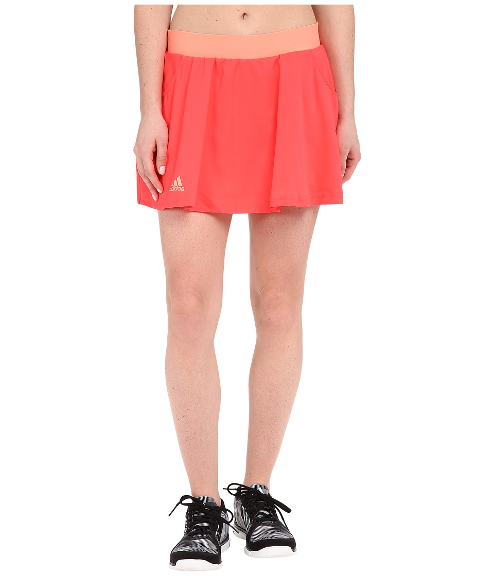 adidas - Club Skorts (Shock Red/Sun Glow) Women's Skort