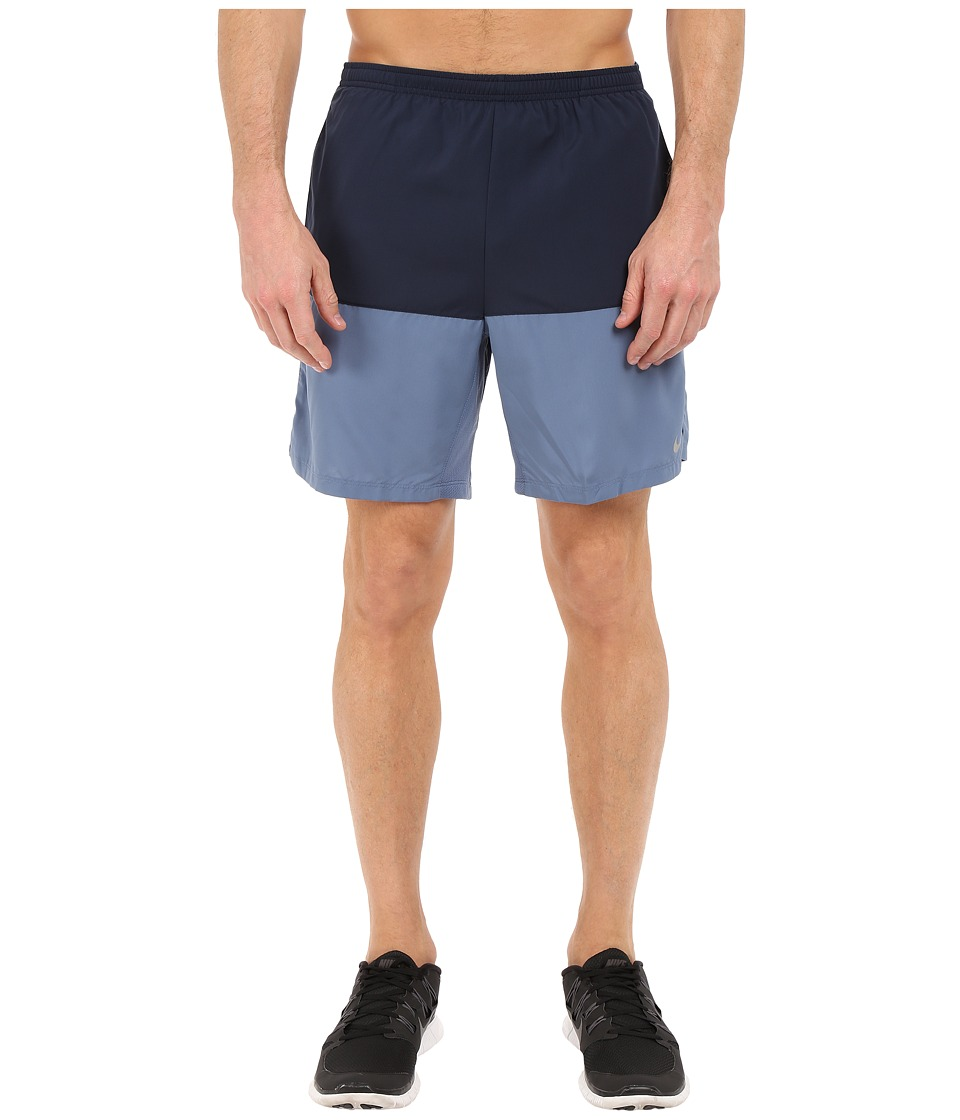 Nike - 7 Distance Short (Obsidian/Ocean Fog/Reflective Silver) Men's Shorts
