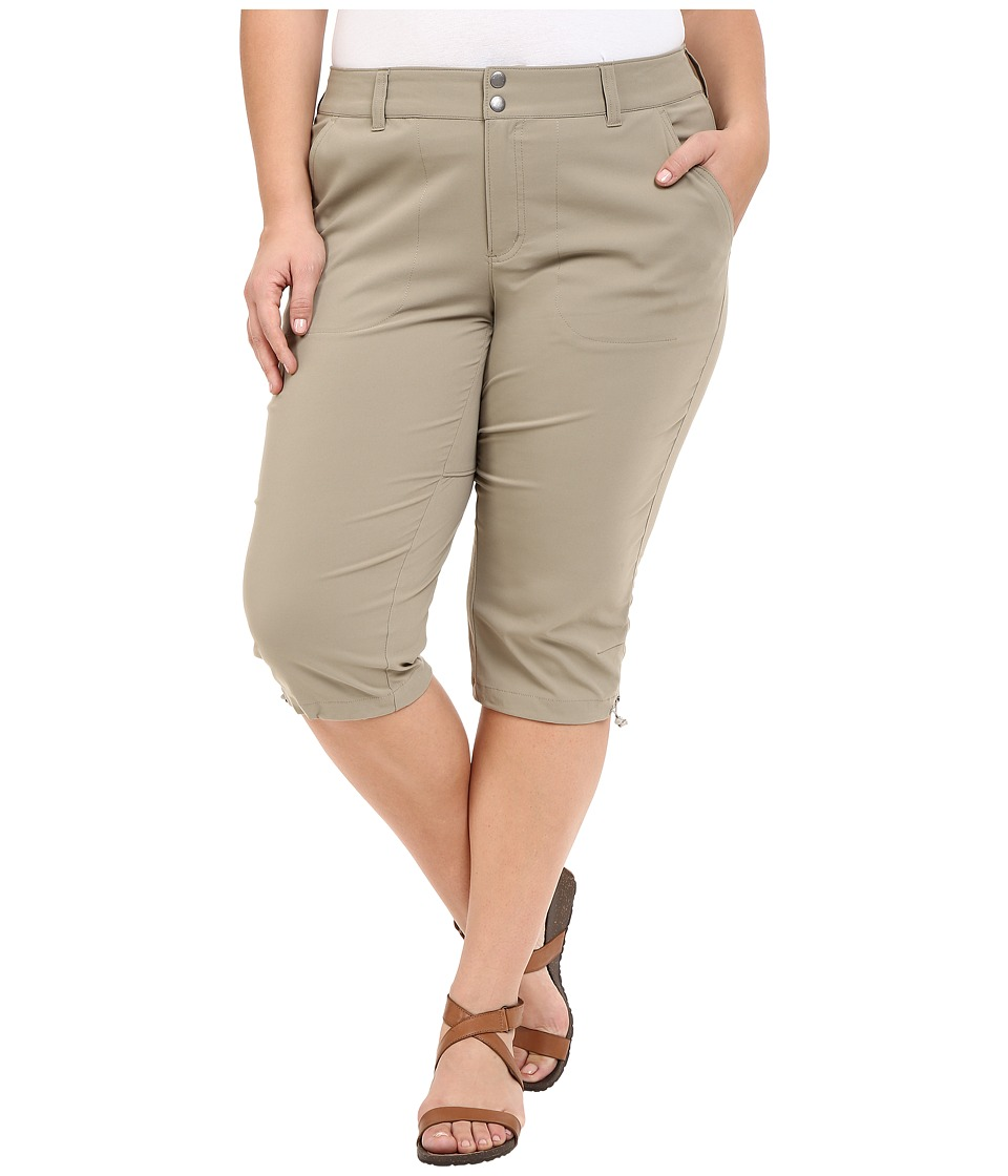 Columbia - Plus Size Saturday Trail II Knee Pant (Tusk) Women's Capri