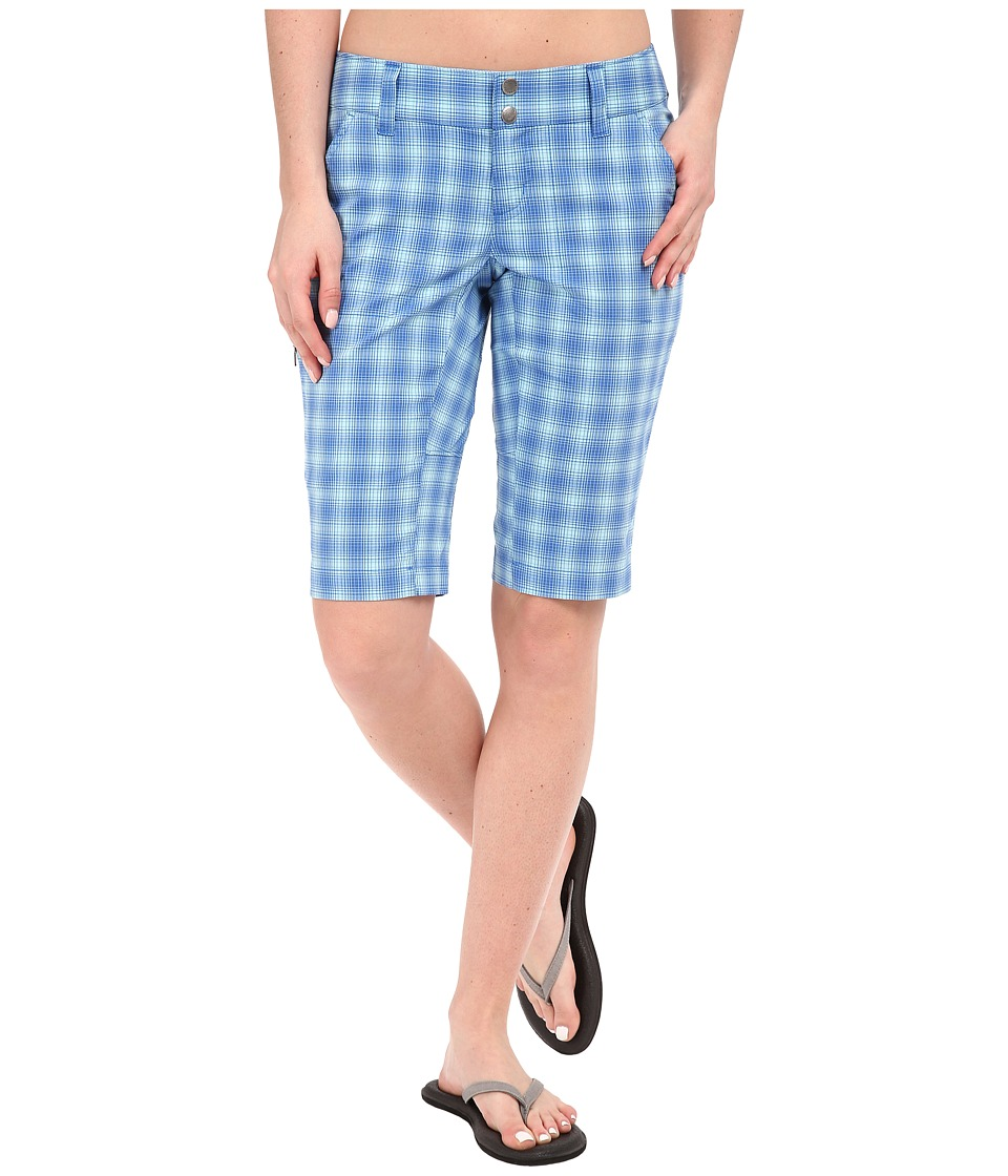 Columbia - Saturday Trail II Plaid Short (Stormy Blue Plaid) Women's Shorts