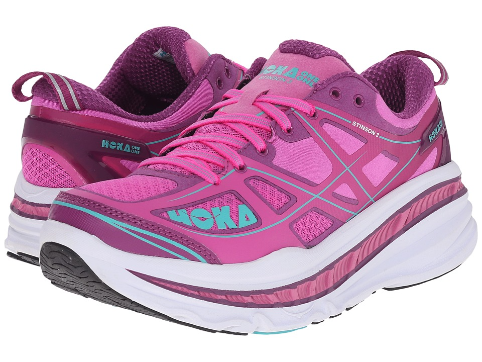 Hoka One One - Stinson 3 (Fuchsia/Byzantium Purple) Women's Running Shoes