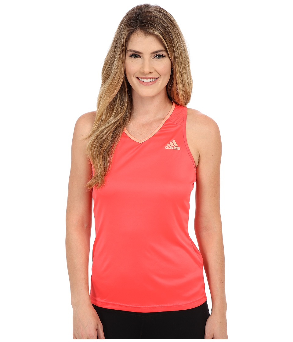 adidas - Club Tank Top (Shock Red/Sun Glow) Women's Sleeveless