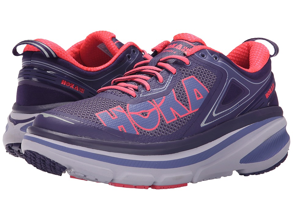 Hoka One One - Bondi 4 (Mulberry Purple/Neon Pink) Women's Running Shoes