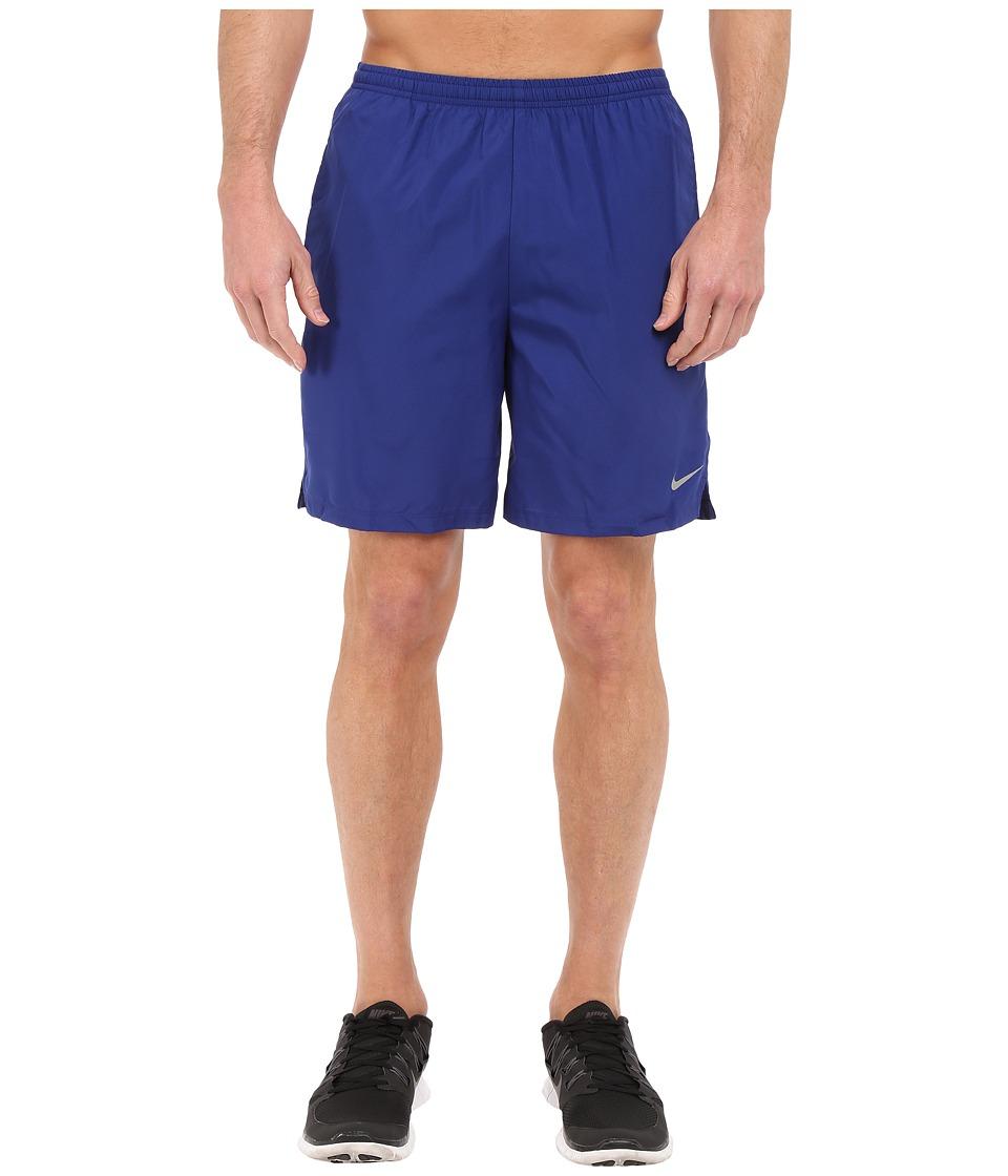 Nike - 7 Challenger Short (Deep Royal Blue/Bright Crimson/Reflective Silver) Men's Shorts