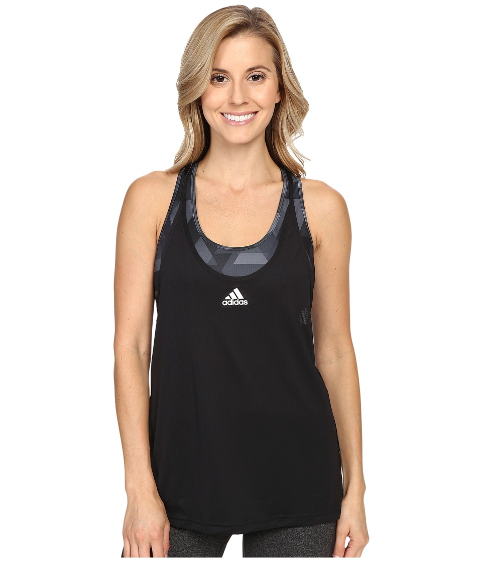adidas - Club Trend Tank Top (Black/White) Women's Sleeveless