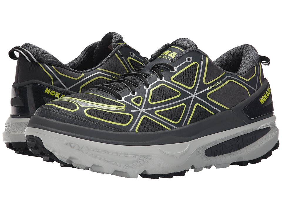 Hoka One One - Mafate 4 (Grey/Citrus) Men's Running Shoes