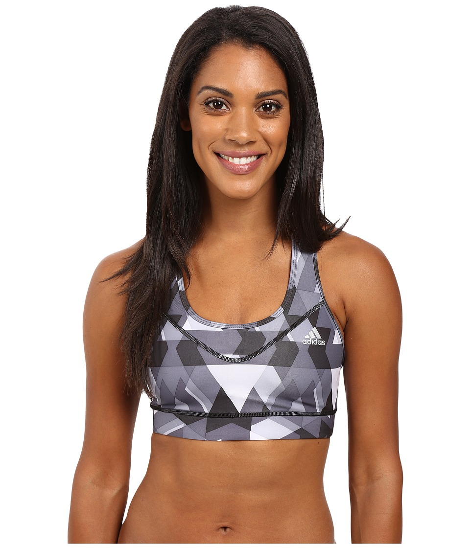 adidas - Techfit Bra - Boost Print (Black Print/Matte Silver) Women's Bra