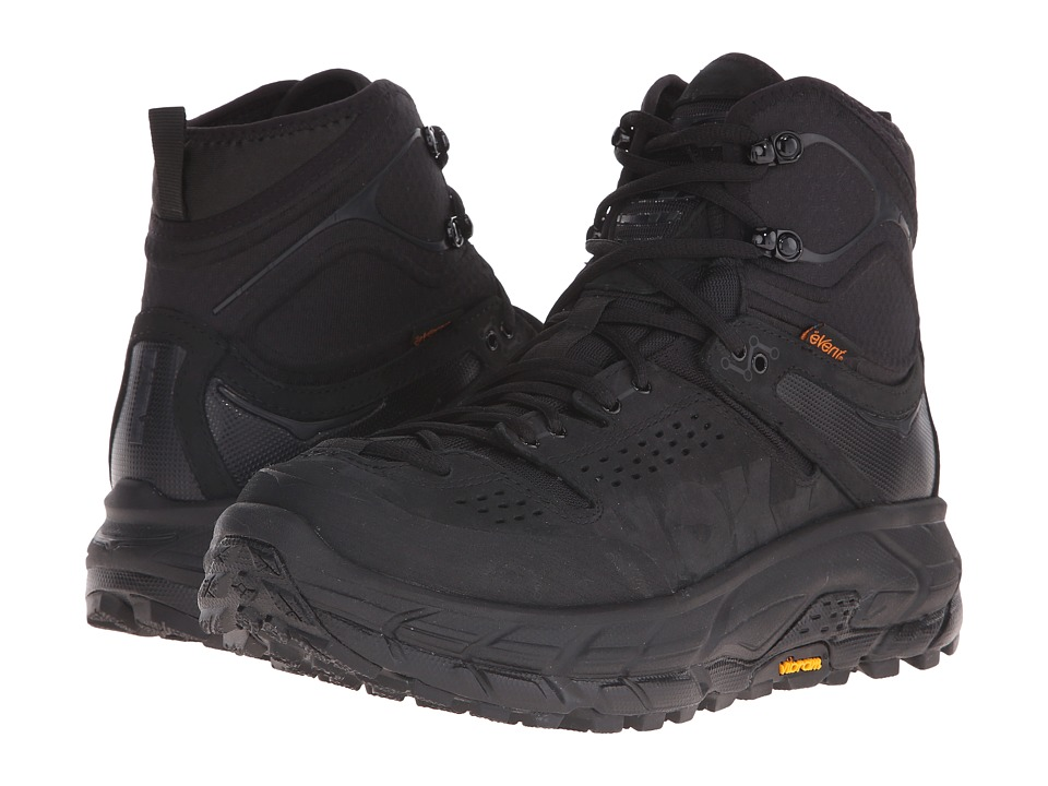 Hoka One One - Tor Ultra Hi WP (Black) Men's Running Shoes
