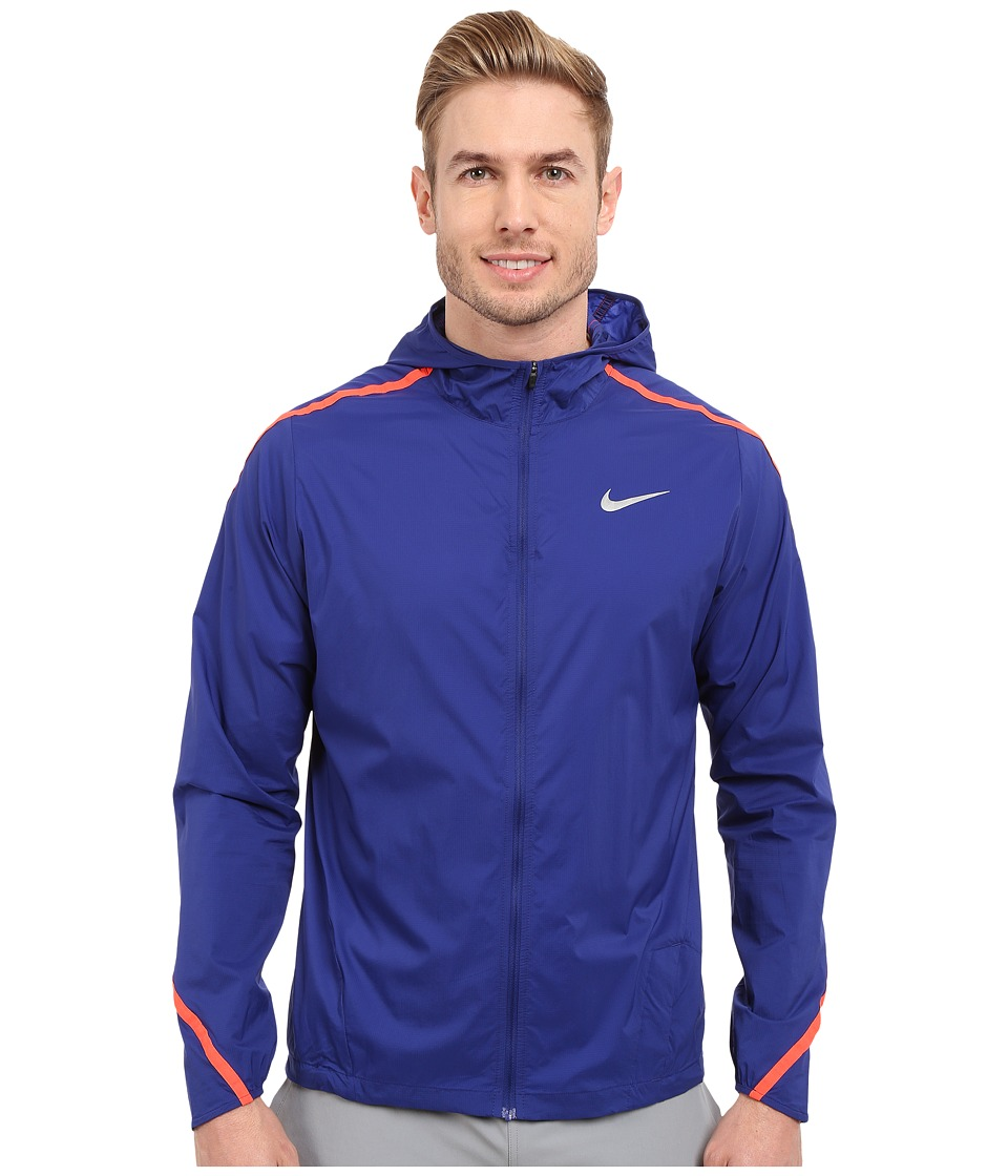 Nike - Impossibly Light Hooded Jacket (Deep Royal Blue/Bright Crimson/Reflective Silver) Men's Coat