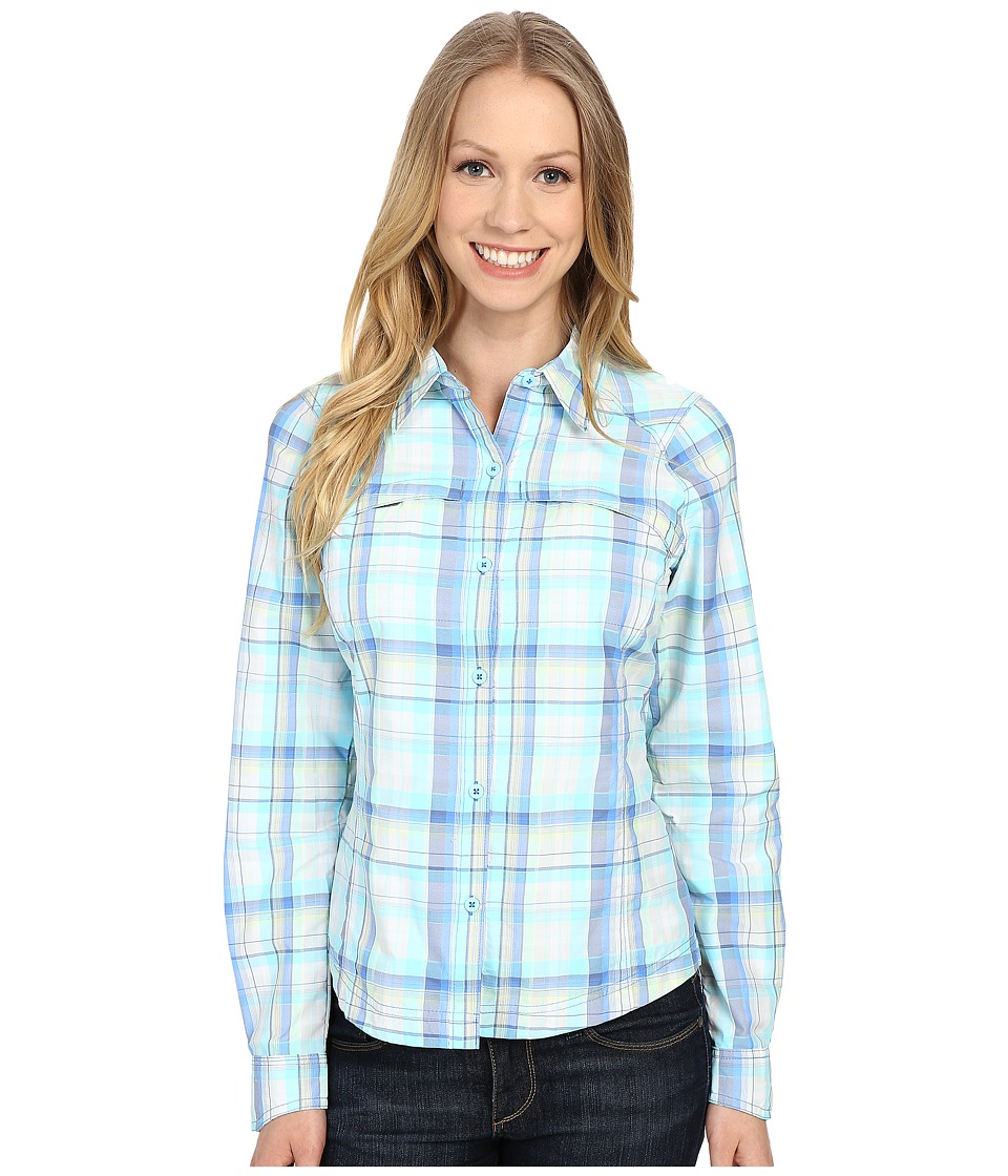 Columbia - Silver Ridge Plaid L/S (Stormy Blue Dobby Plaid) Women's Long Sleeve Button Up